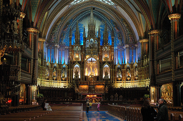 Basilique Notre Dame In Old Montreal Quite A Beautiful