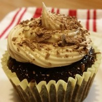 Little Lebowskis - Dark Chocolate White Russian Cupcakes