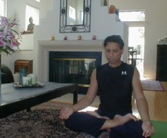 meditation in living room