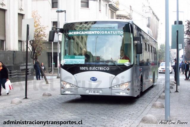 Bus Eléctrico BYD K9 | Municipalidad de Santiago / FXHB40