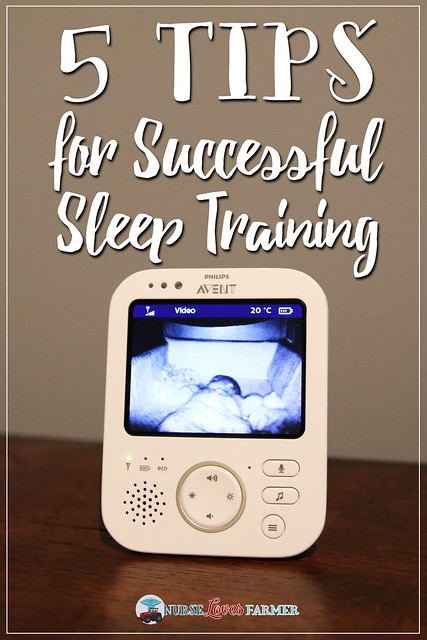 5 Tips for Successful Sleep Training from a mom of 3 boys.