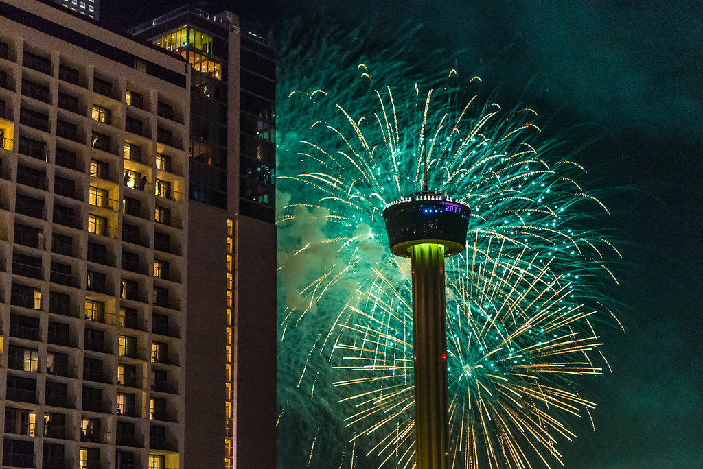 Happy New Year from San Antonio  Texas   Tower of the Americ      Flickr     Happy New Year from San Antonio  Texas   by Black Room