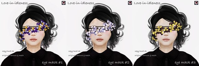 *NAMINOKE*Love-in-idleness eye mask