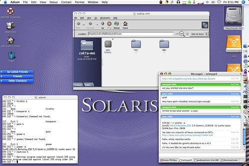 Solaris OS X Screenshot Shelled Into Berkeley Solaris