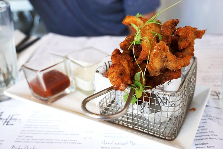 Gluten free fried chicken goujons (NFC basket) from Niche - gluten free restaurant in Angel, Islington, London