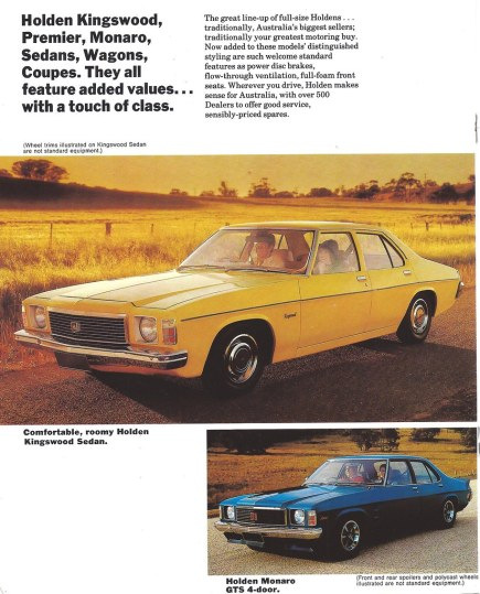 1976 pontiac cars » 1976 Holden Kingswood and Monaro   A page from a brochure ca      Flickr     1976 Holden Kingswood and Monaro   by Hugo 90