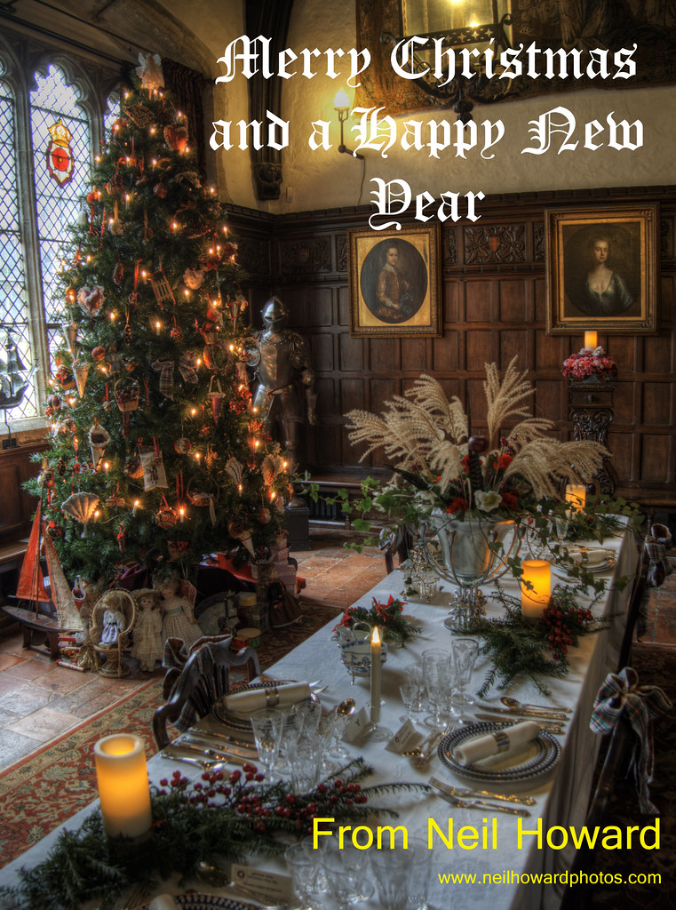 Ightham Mote Great HAll Ready For Christmas My Card