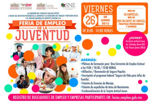 Feria de empleo de la juventud, más de 800 vacantes y 50 empresas
