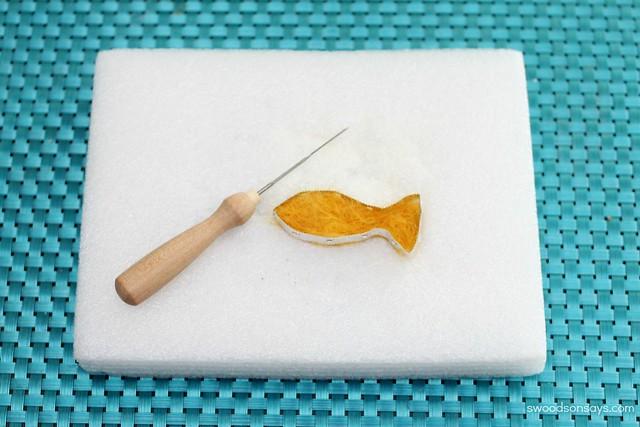 tin foil needle felting frame