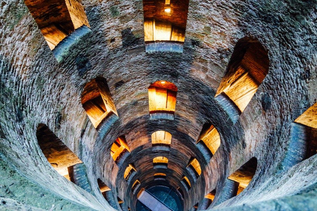 Orvieto, interno del pozzo di S. Patrizio