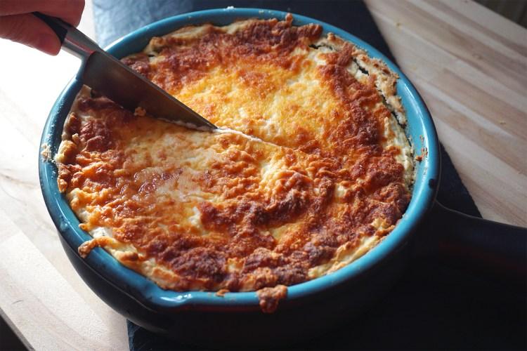 Gluten free cheesy cottage pie with gourmet mash