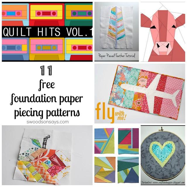 Free Foundation Paper Piecing Patterns