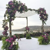 chuppah decorated