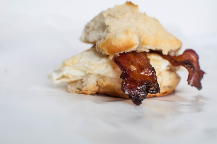 Maple and Brown Sugar Bacon and Egg Biscuits 2