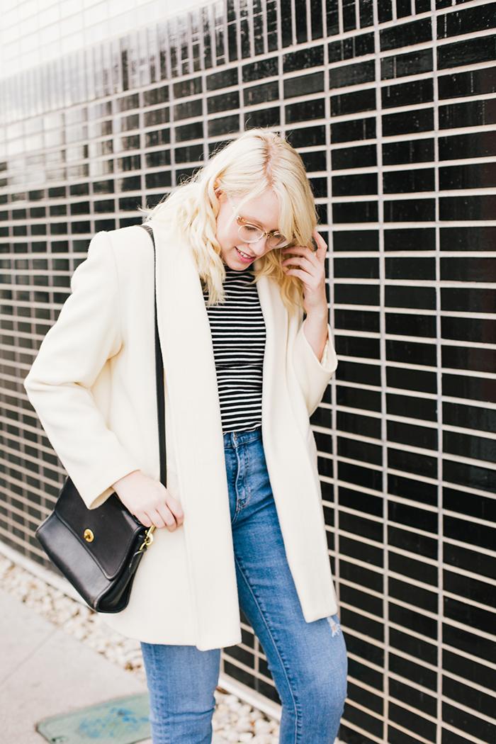 austin fashion blogger vintage white coat7