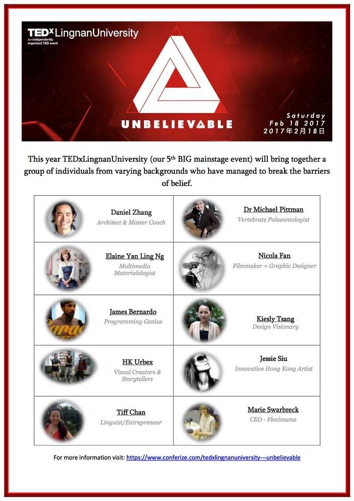 TEDxLU 2017 speaker list