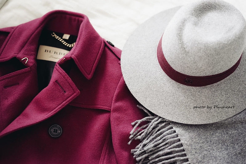 ▌Outfit ▌ 令人無法抗拒的Burberry cherry pink kensington羊毛大衣
