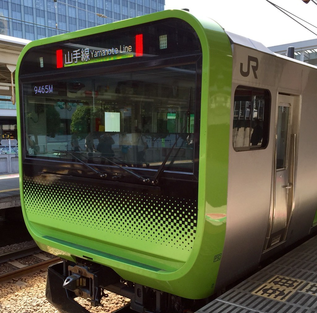 New JR Yamanote Line train. Planned debut Autumn 2015. No paper ads, all digital displays!!!