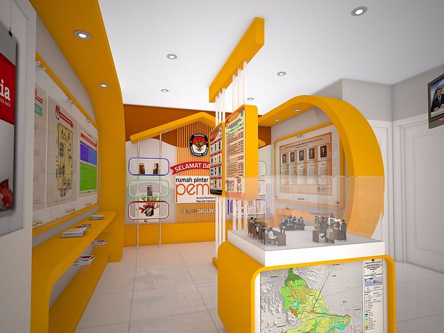 Salah satu sudut ruangan dalam desain 'RPP Reog Kendhang'