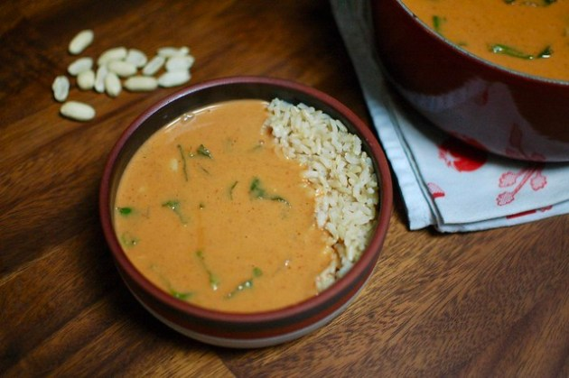 Peanut Sriracha Soup
