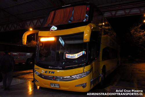 Buses ETM - Temuco - Marcopolo Paradiso 1800 DD / Scania (DWWB23)