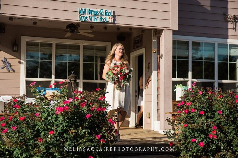 Backyard Denton Wedding