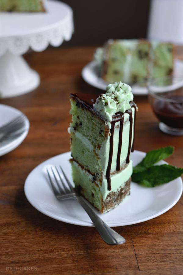 Mint Chocolate Chip Cake - bethcakes.com