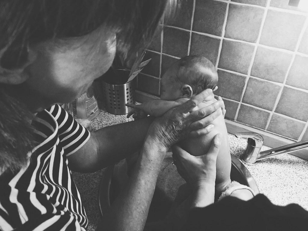 Karis' First Bath (6/12/15)