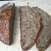 No knead Lemon thyme and nigella seeds basic sourdough