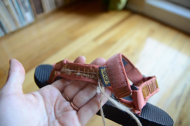 DIY Woven Tapestry Teva Music Festival Sandals