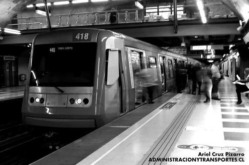 Metro de Santiago - Alstom AS2002 R4418 - Plaza de Puente Alto (L4)