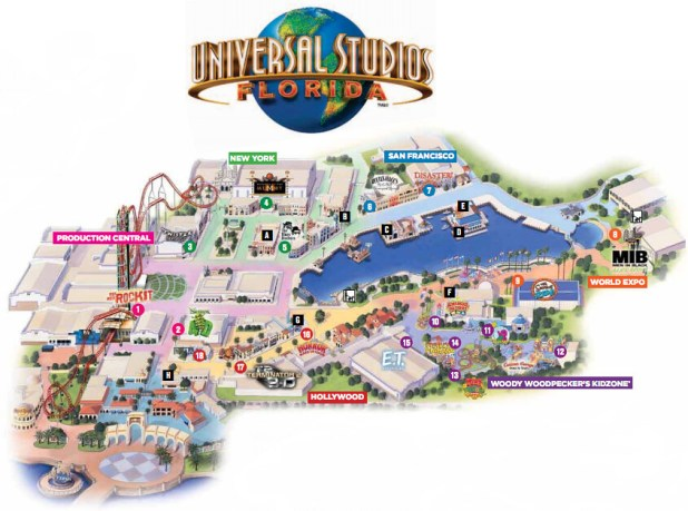 mapa universal estudios orlando