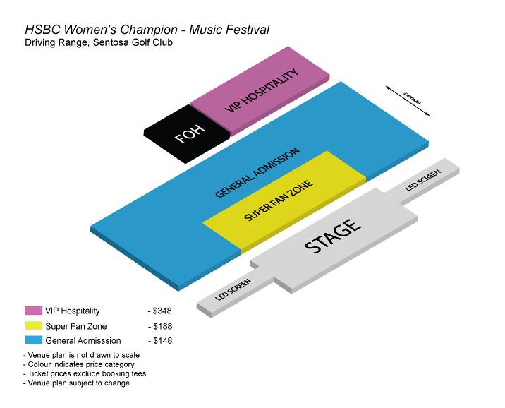 HSBC Women's Champions - Music Festival Seatmap