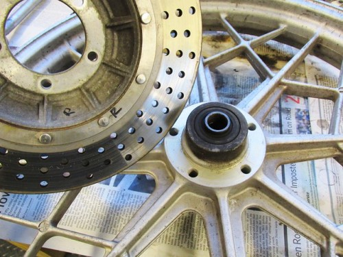 Front Wheel Right Side Rotor and Wheel