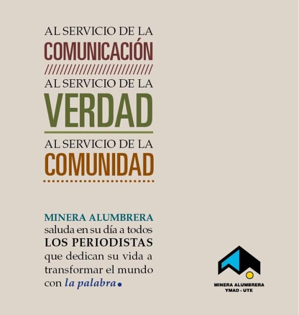 Minera Alumbrera saluda a todos los periodistas