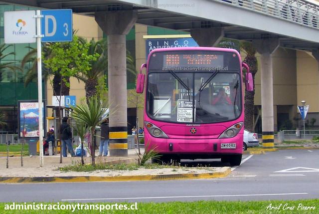 Transantiago H10 | Transaraucarias | Marcopolo Gran Viale - Agrale / ZW6062