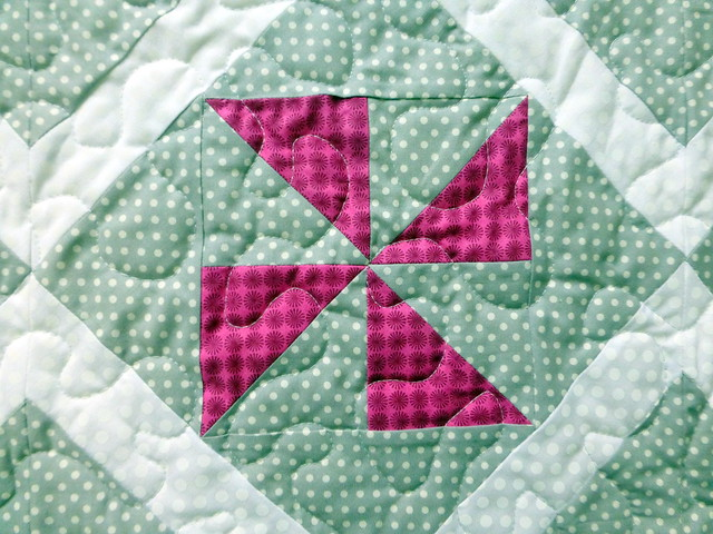 Fun with Pinwheels baby quilt for British Patchwork & Quilting (Jan17)