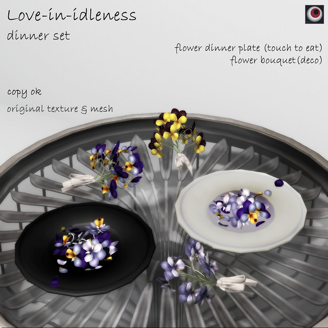 *NAMINOKE*Love-in-idleness dinner set