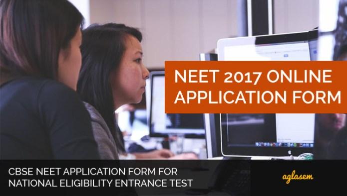 NEET 2017 Online Application Form