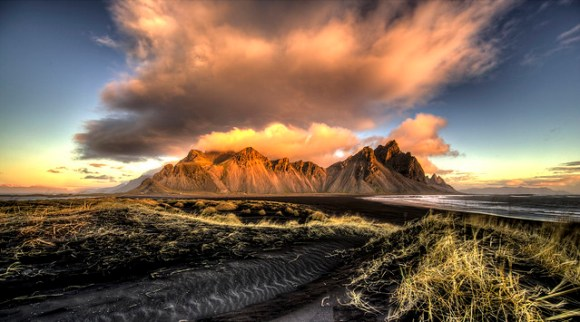 Clouds over Vestrahorn