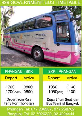 Horarios Bus a Koh Phangan