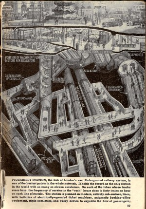 Piccadilly Underground Station | Man and machinery Diagram … | Flickr