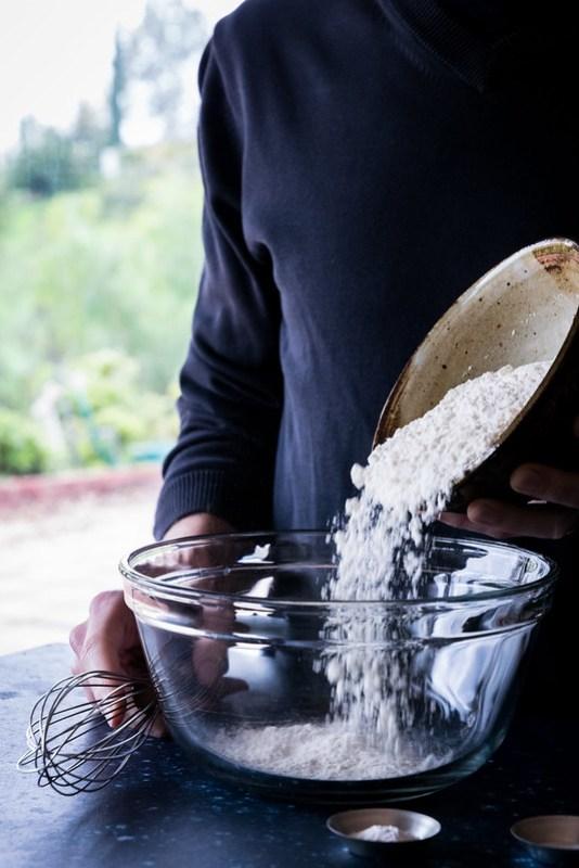 first, some flour
