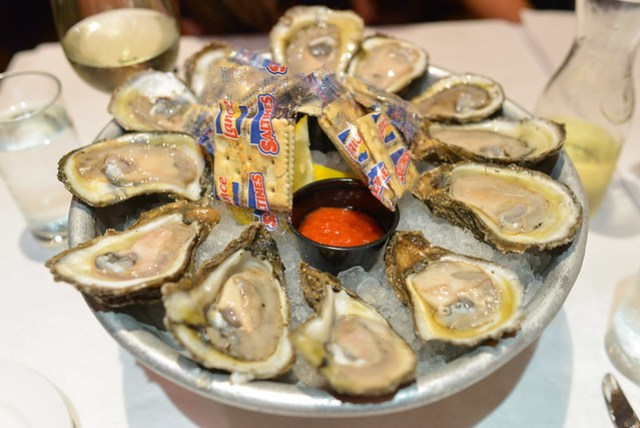 """""""Le Plateau"""" Of Gulf Oysters"""
