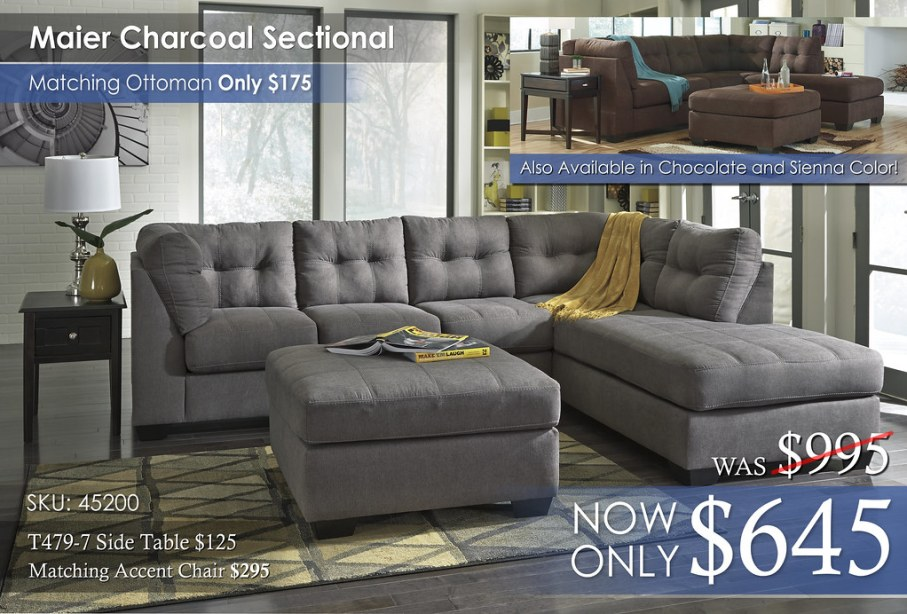Maier Charcoal Sectional 45200