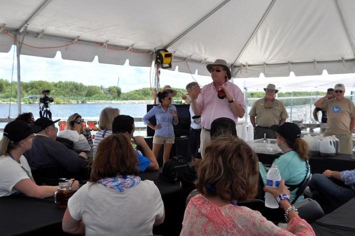 Mayor Joe Kilsheimer Welcomes the IPW Group to the Lake Apopka Wildlife Drive, Fla., May 31, 2015