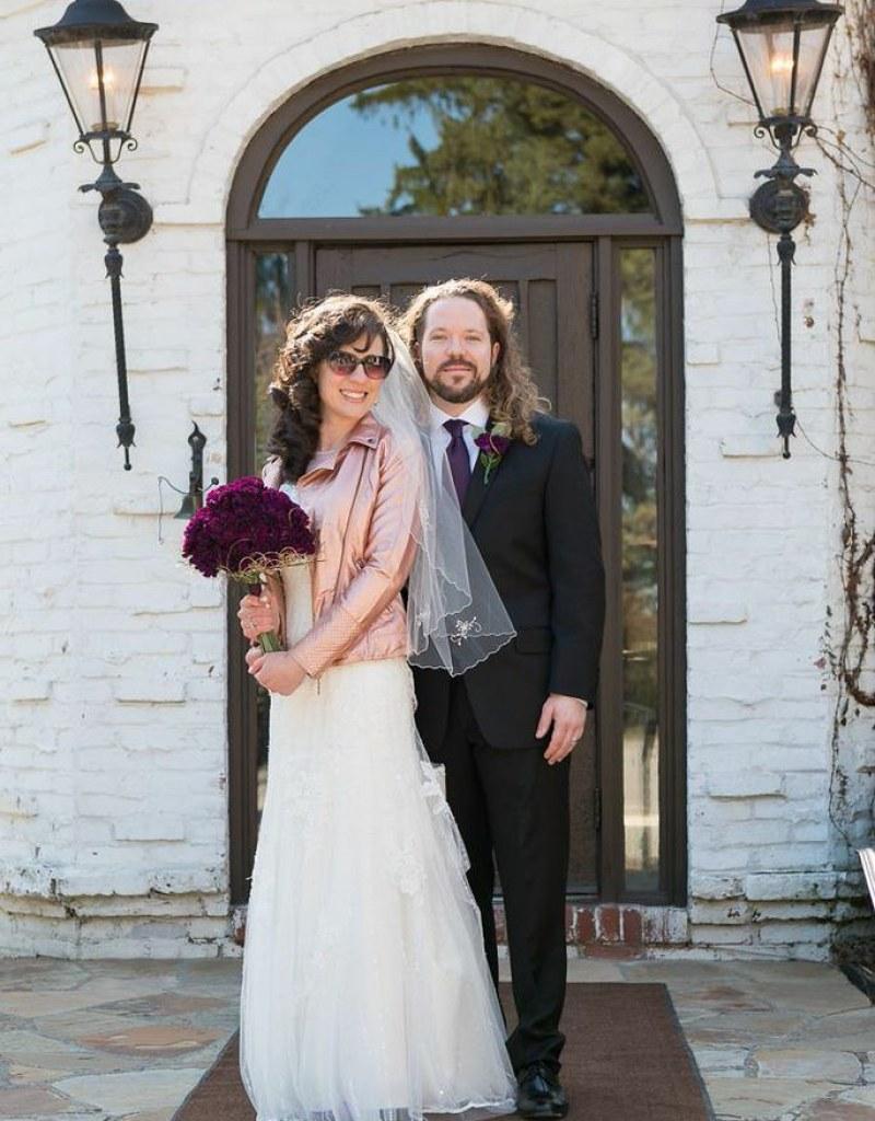 Jolene & Billy rocked their purple glittery rock \'n\' roll wedding ...