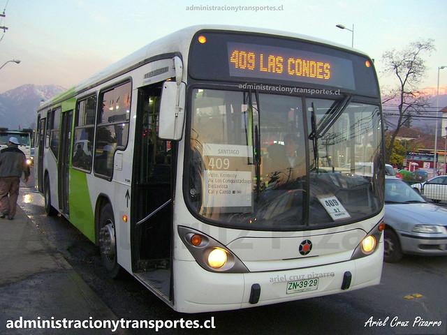 Transantiago 409 | Express | Marcopolo Gran Viale - Volvo / ZN3929