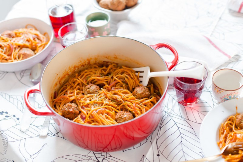 Spaghetti with Meatless Balls
