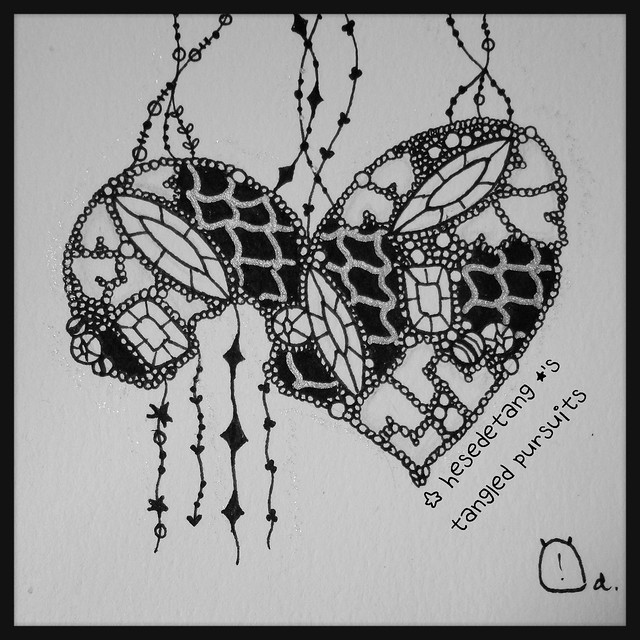 Zentangles -  Tangled Pursuits & Diva Challenge Wks 214 & 221 (4/6)